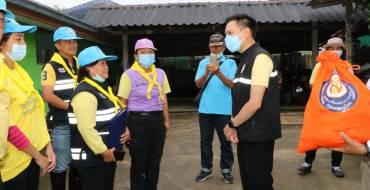 พิธีมอบถุงยังชีพพระราชทาน มูลนิธิอาสาเพื่อนพึ่ง (ภาฯ) ยามยาก สภากาชาดไทย